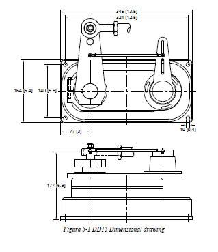 Simrad DD15 Autopilot Antrieb Abmessungen