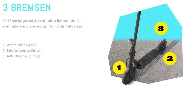 Trittbrett E-Scooter Bremsen